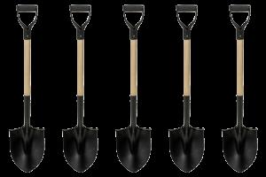 5 Shovels