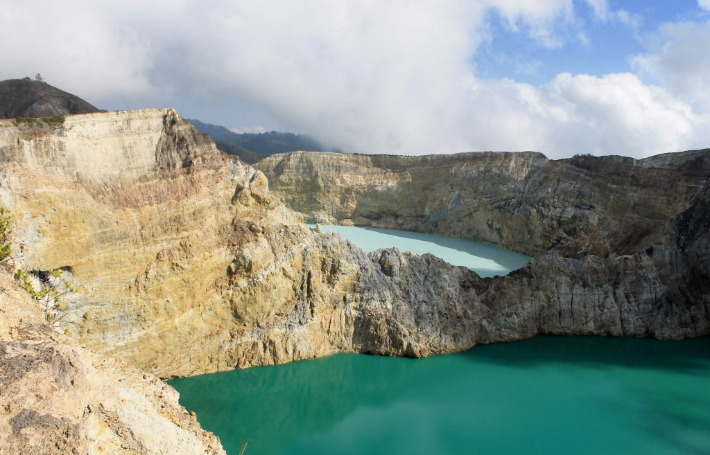 2 of the 3 colored lakes, Mount Kelimutu