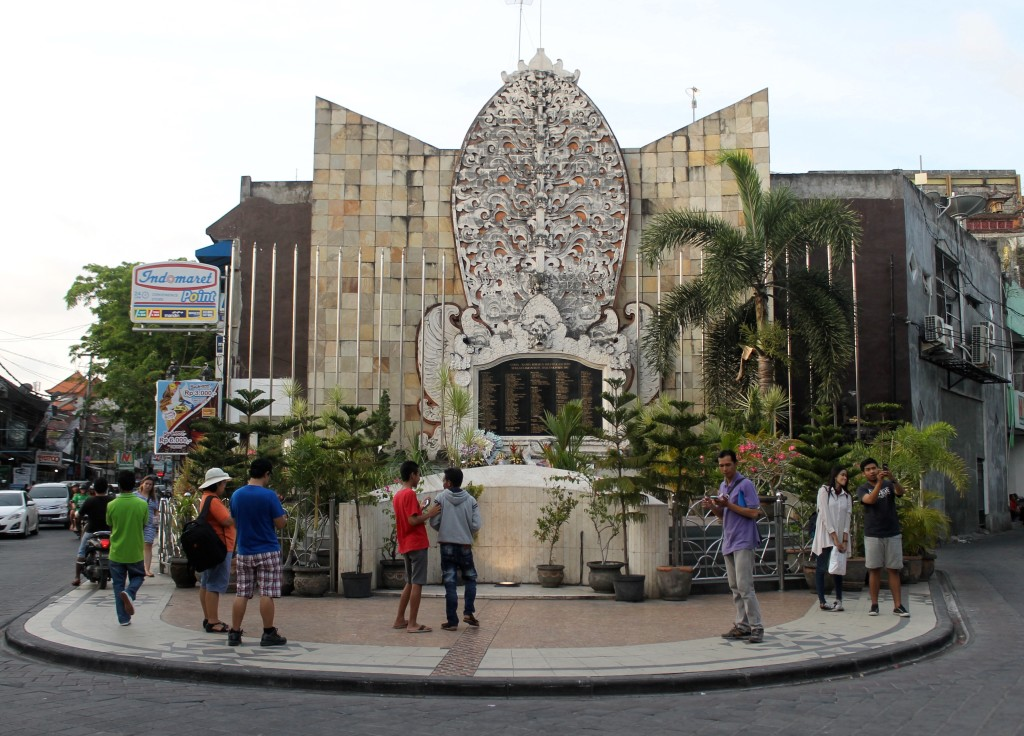 Bali Bombing memorial, built on the site of the destroyed Paddy's Pub