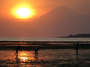 Gili Air Sunset Over Bali
