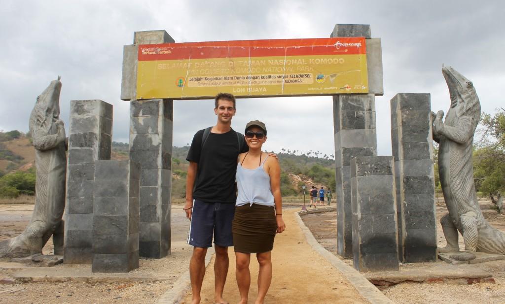The entrance to Rinca Island