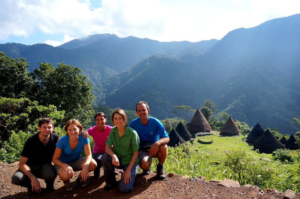 Group shot at Wae Rebo viewpoint