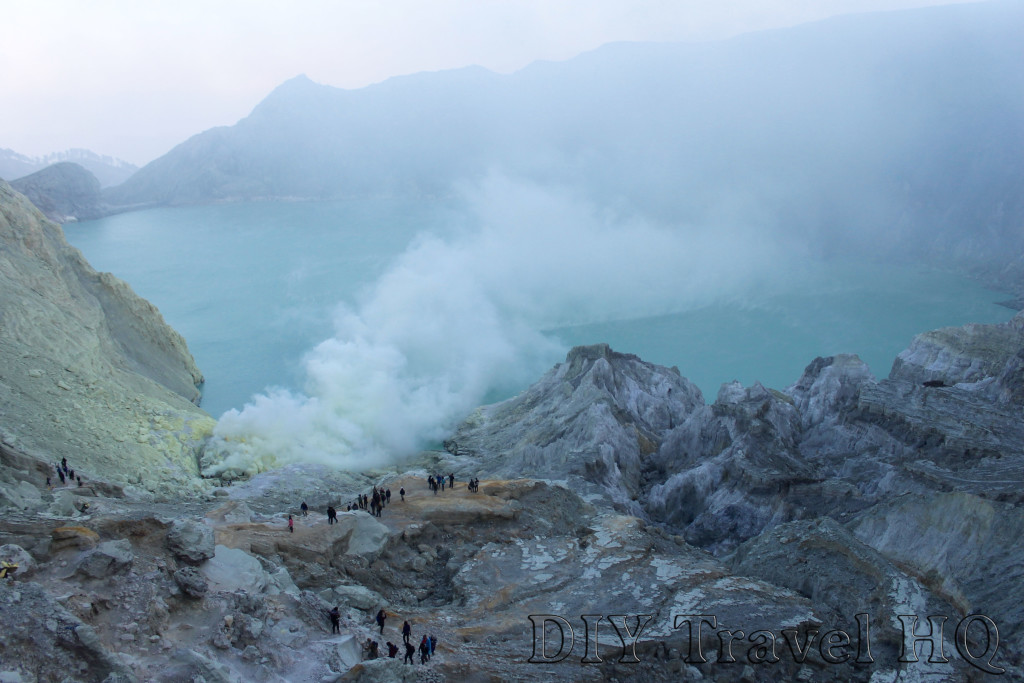 The incredible crater landscape of Mt Ijen