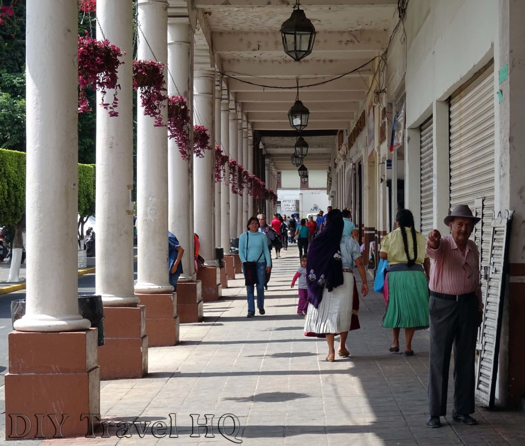 Businesses Lining Uruapan Zocalo