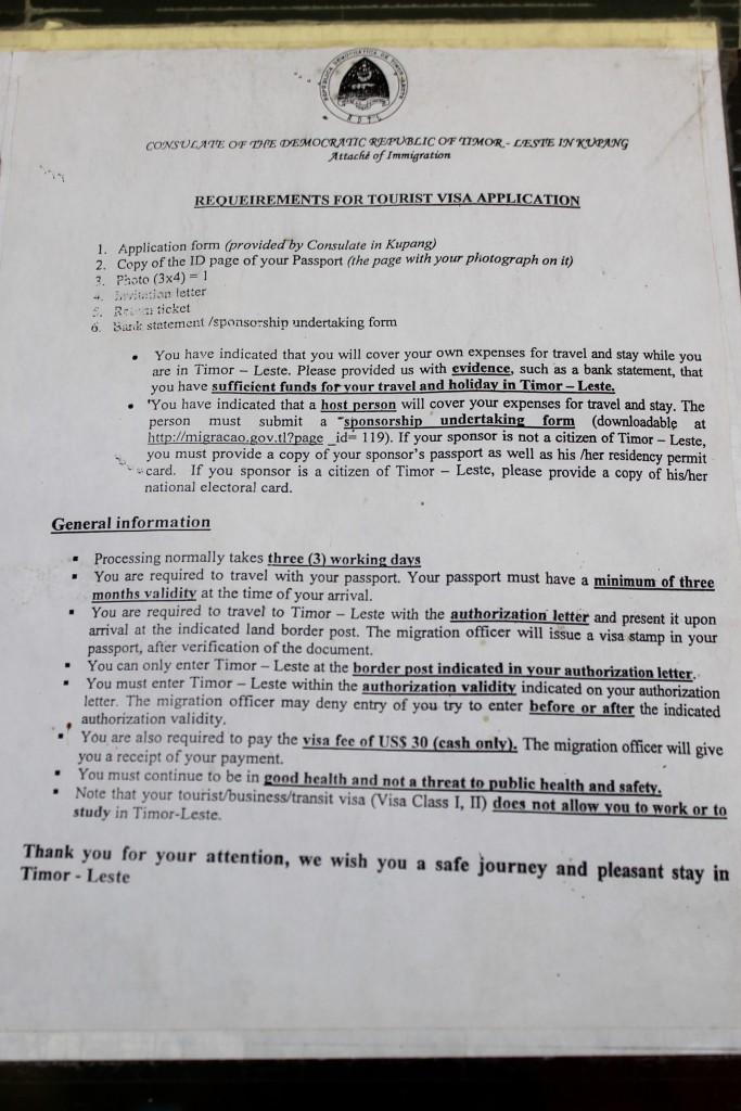 East Timor Visa Application Information