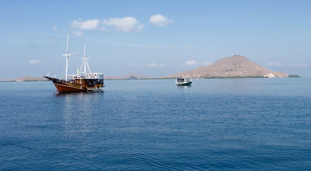 Dive boat views around Labuan Bajo