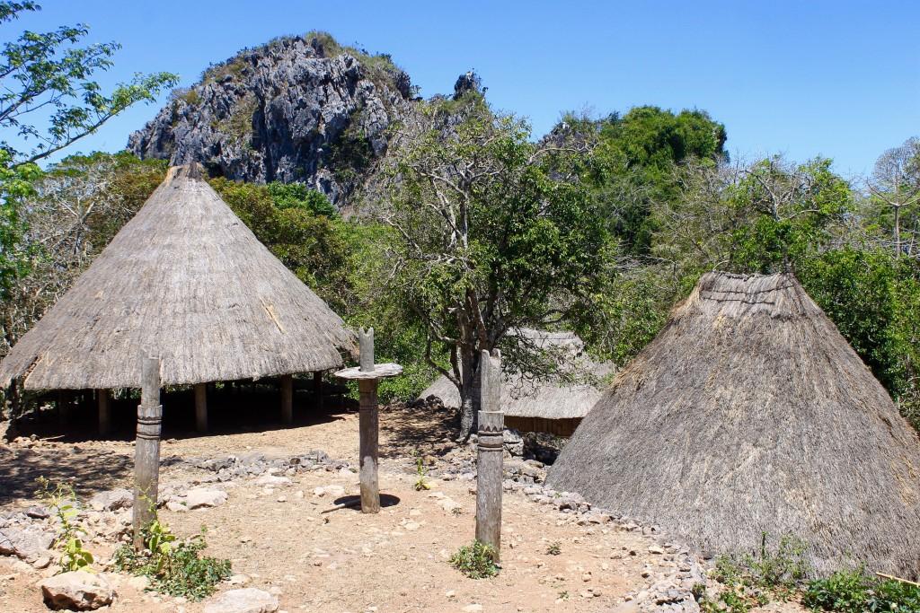 Limestone rocks behind Tamkessi Village