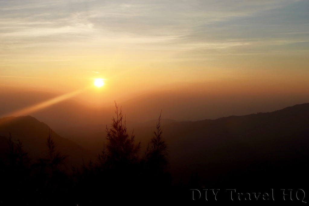 Bromo sunrise between Viewpoint 1 & 2