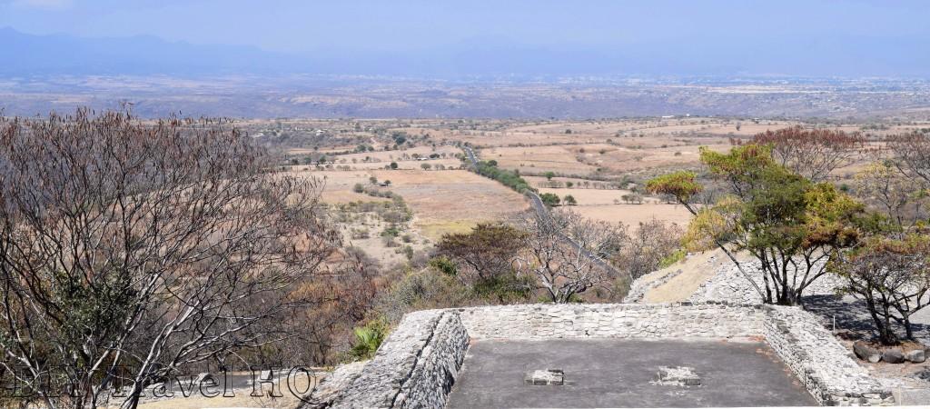 Beautiful landscape around Xochicalco ruins