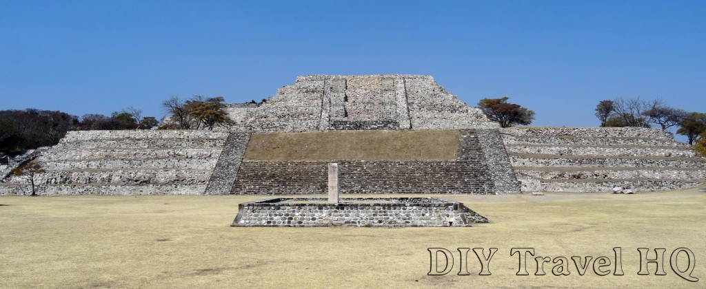 Xochicalco Plaza of the Stele of the Two Glyphs with Grand Pyramid