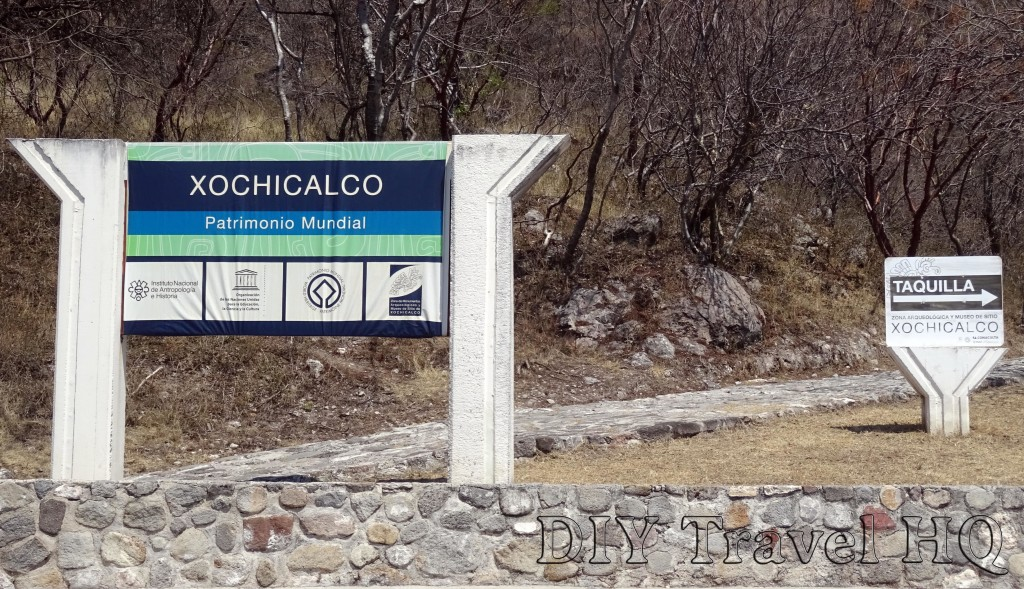 Xochicalco Welcome Sign