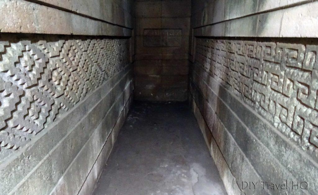 Mitla Ruins Inside Columns of Life Tomb