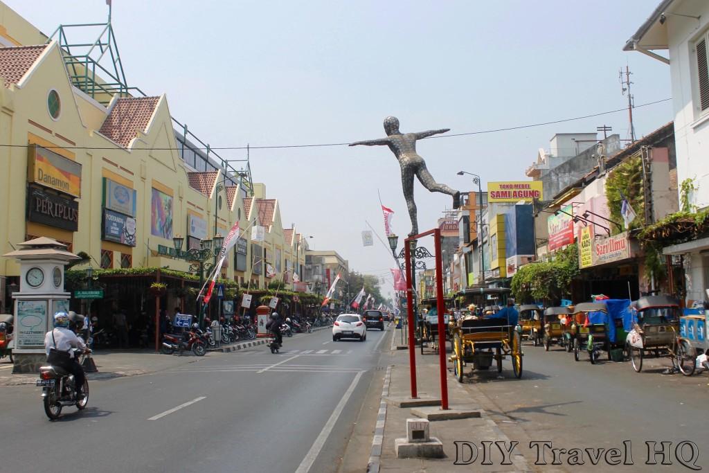 The main street in Yogyakarta, Jalan Malioboro