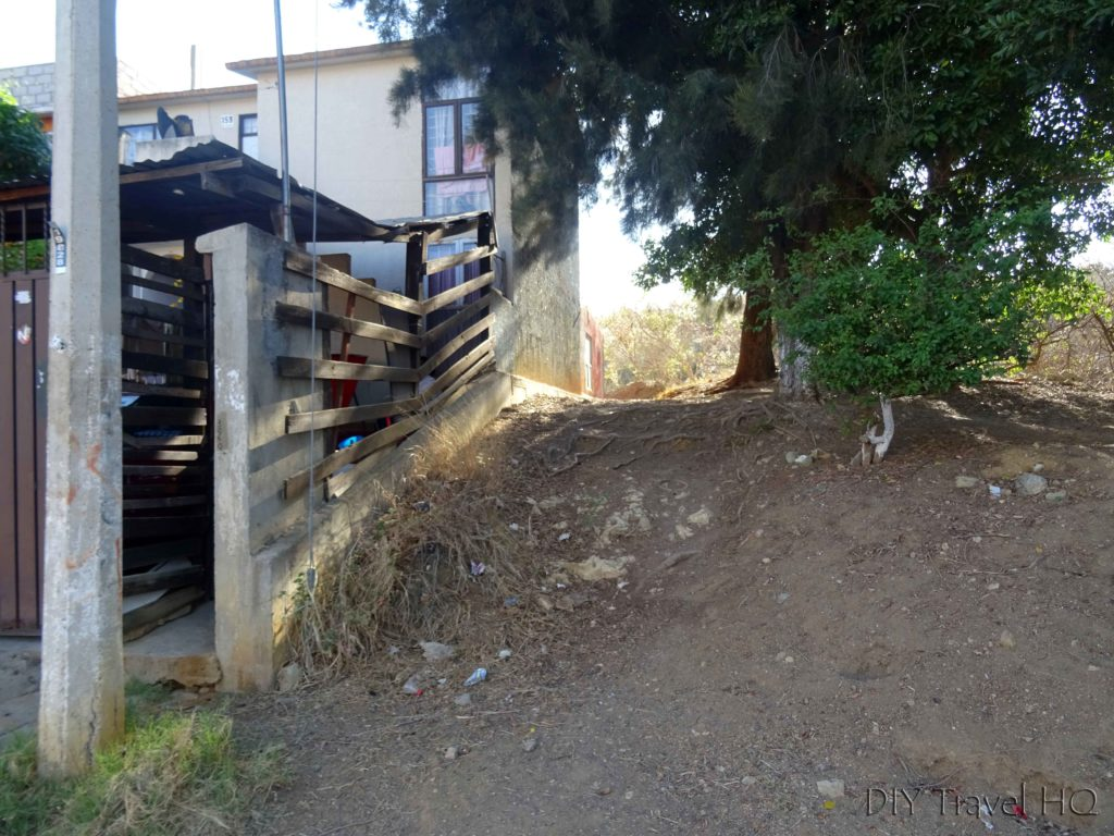Monte Alban Ruins DIY Hike Shortcut Entrance