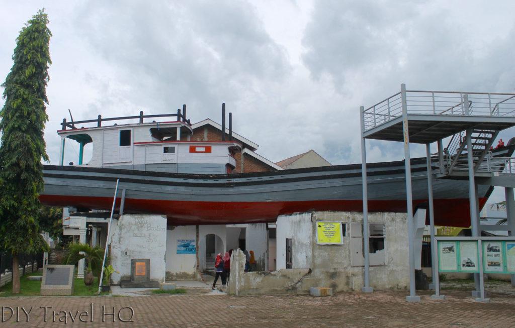 Fisherman's Boat on Top House tsunami