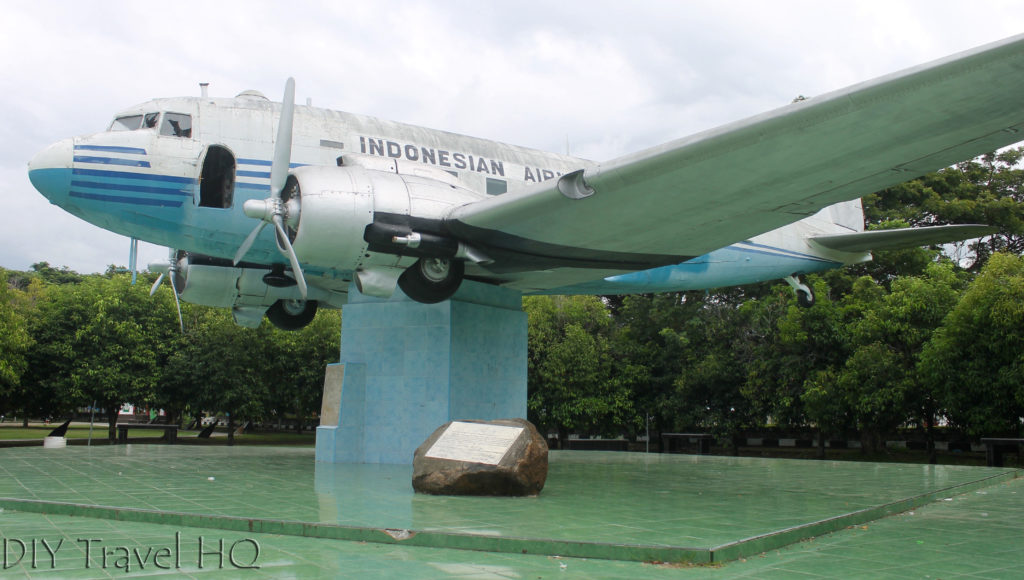 Indonesian Airline monument in Aceh