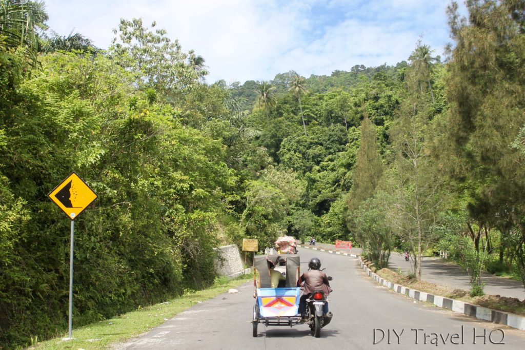 Jungle scenery becak ride to Iboih