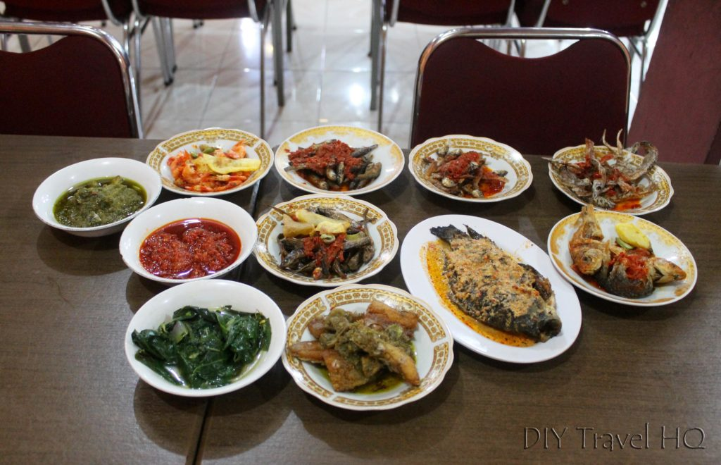 Rejected padang dishes Bukittinggi