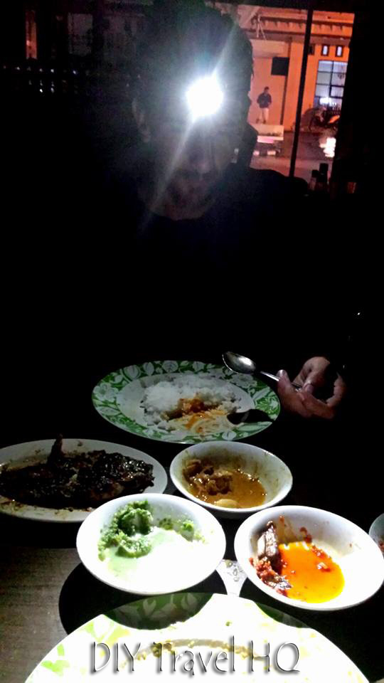 Power cut in Bukittinggi restaurant