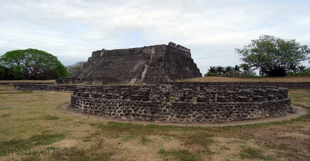 Cempoala El Templo Circular and Pyramid with Trees