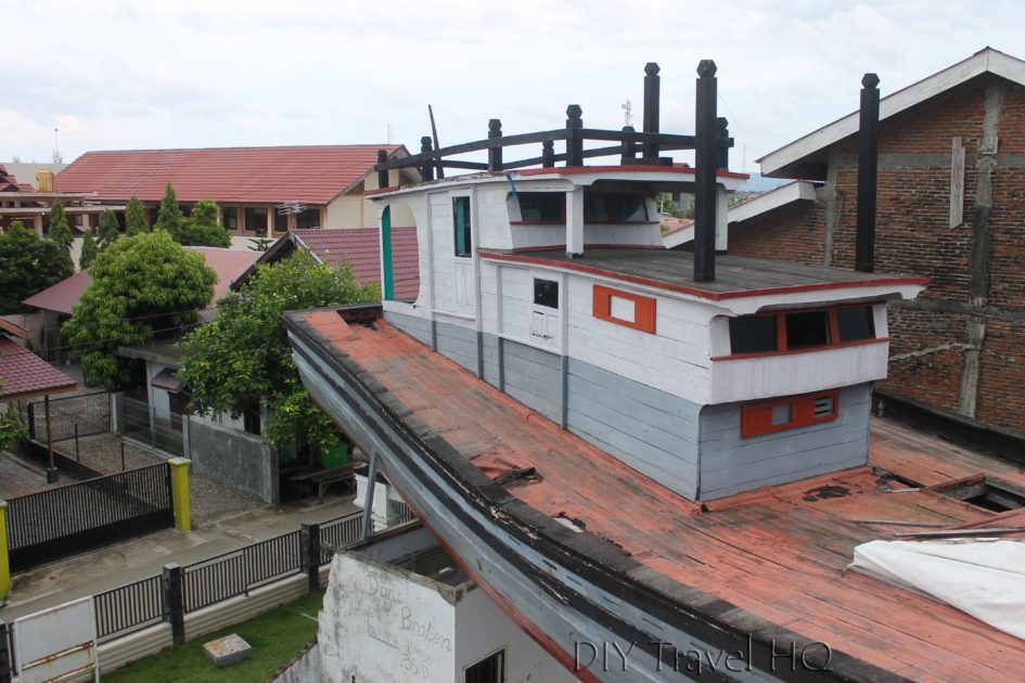 Fisherman's Boat on Top of House