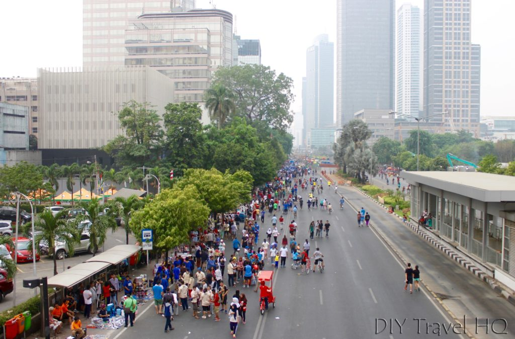 No traffic in Jakarta on Sundays