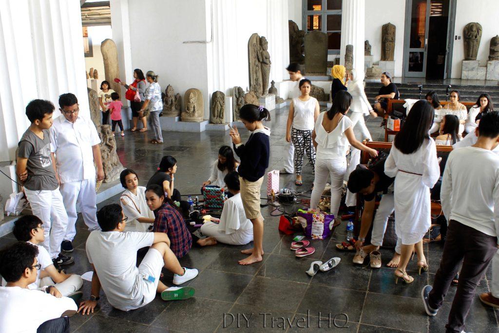 Students inside National Museum Jakarta