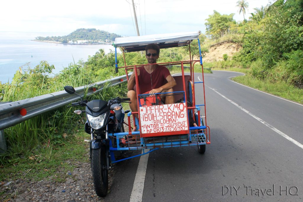 Becak from ferry terminal to Iboih