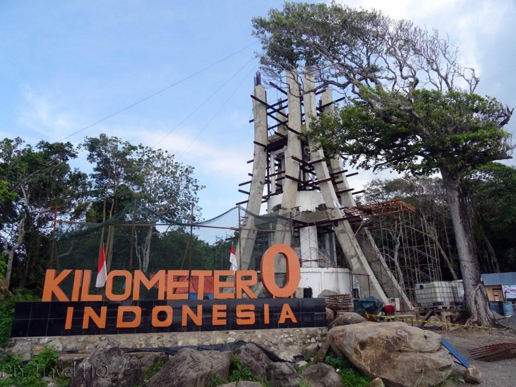 Kilometre 0 sign Pulau Weh