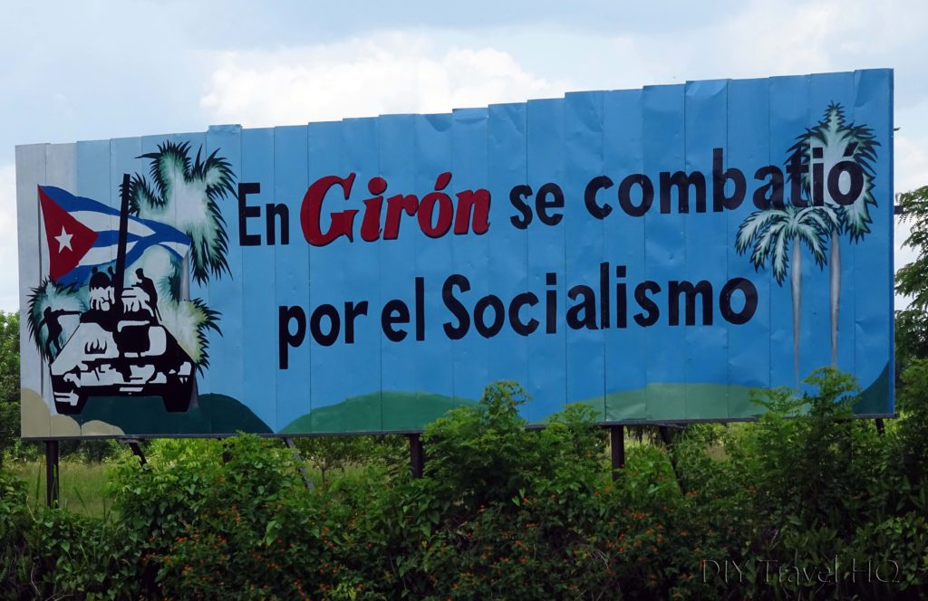 Playa Larga Cuba Communist Propaganda Billboard
