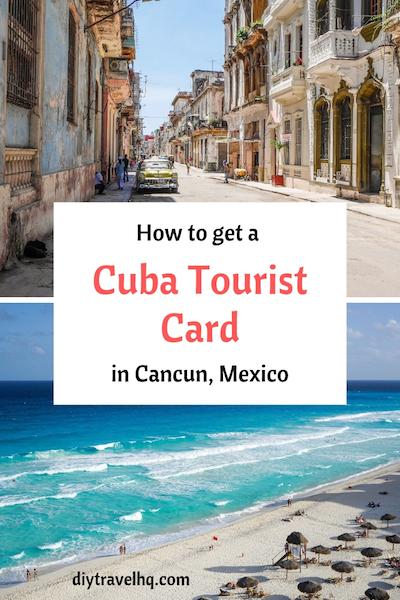 Havana Cuba and Cancun beach Mexico