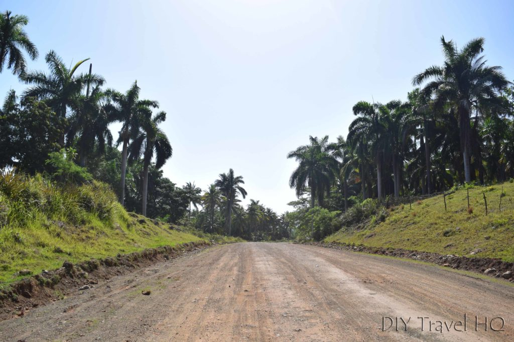 Dusty road from Baracoa to Moa Cuba