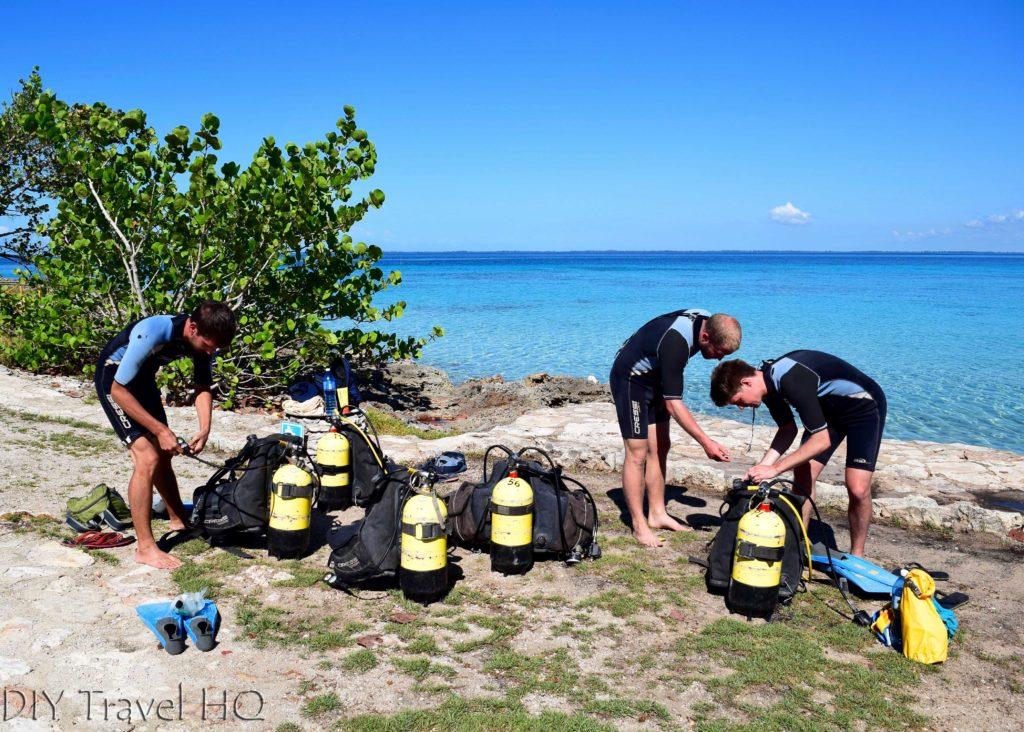 Bay of Pigs Punta Perdiz Diving Tank Setup