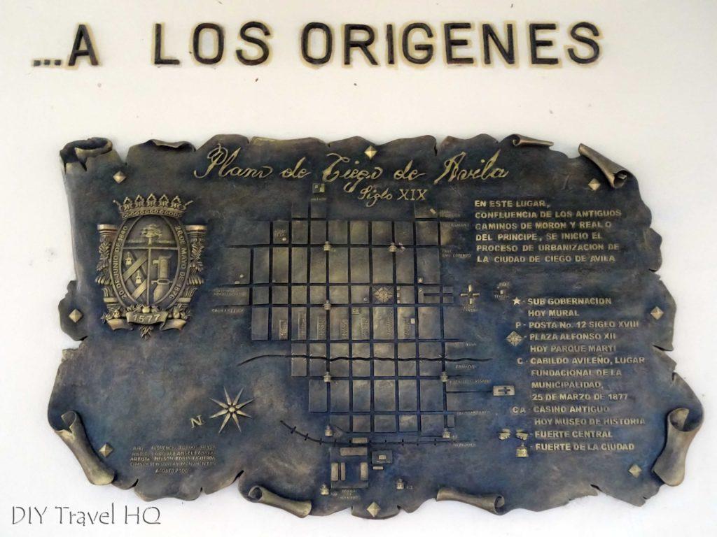 Ciego de Avila Plano-Mural de Ciego de Avila