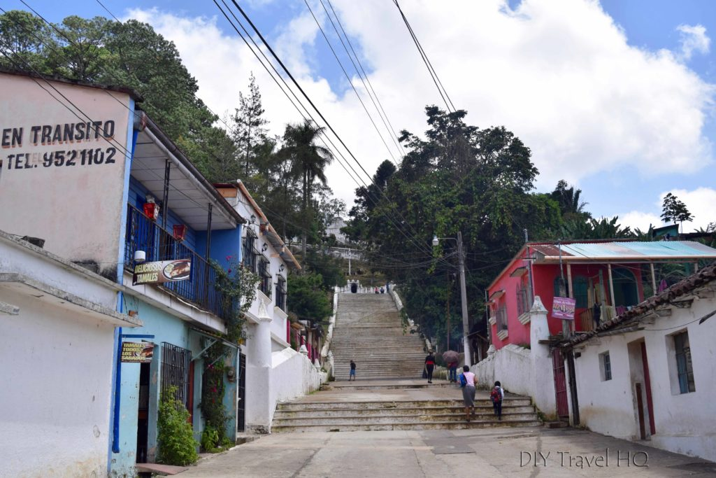 Coban Stairs to El Calvario Church