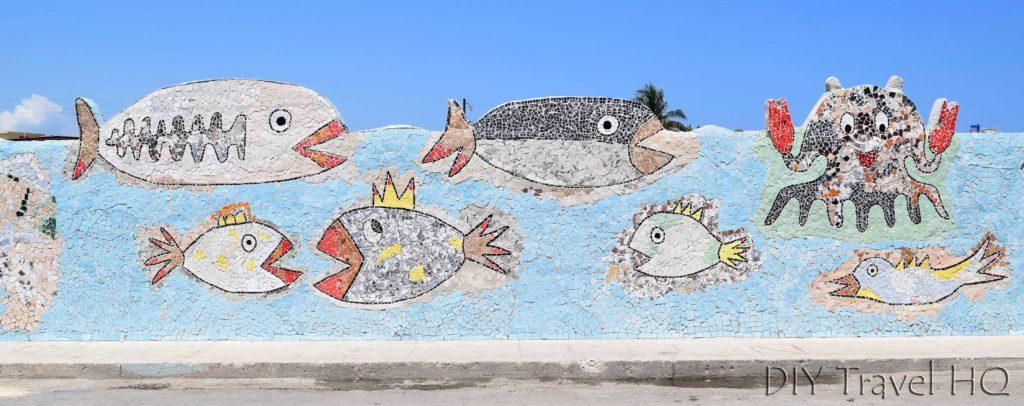 Fish mosaic mural Fusterlandia
