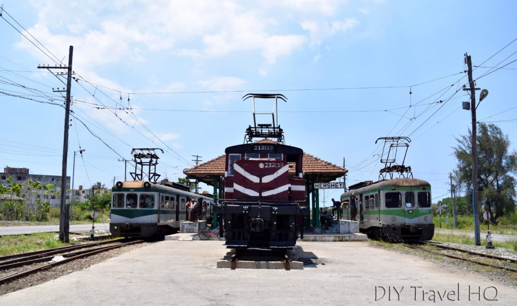 Hershey Train Carriages at Central Camilo Cienfuegos