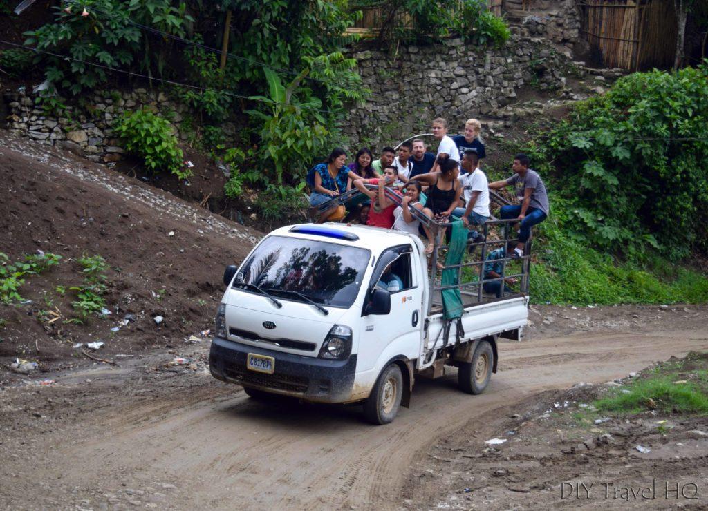 Lanquin to Semuc Champey Camioneta