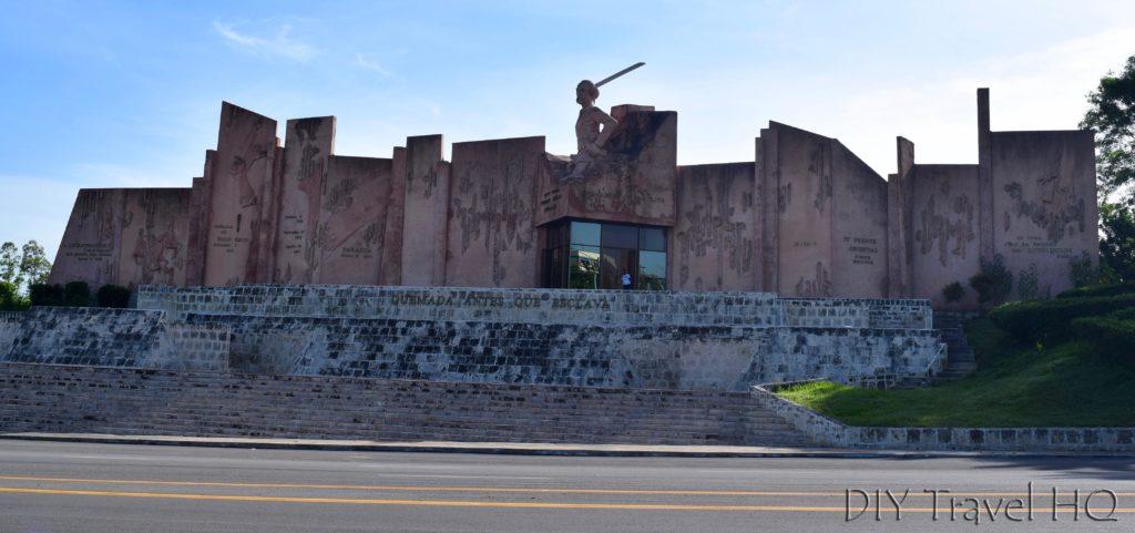 Huge memorial to Vincente Garcia