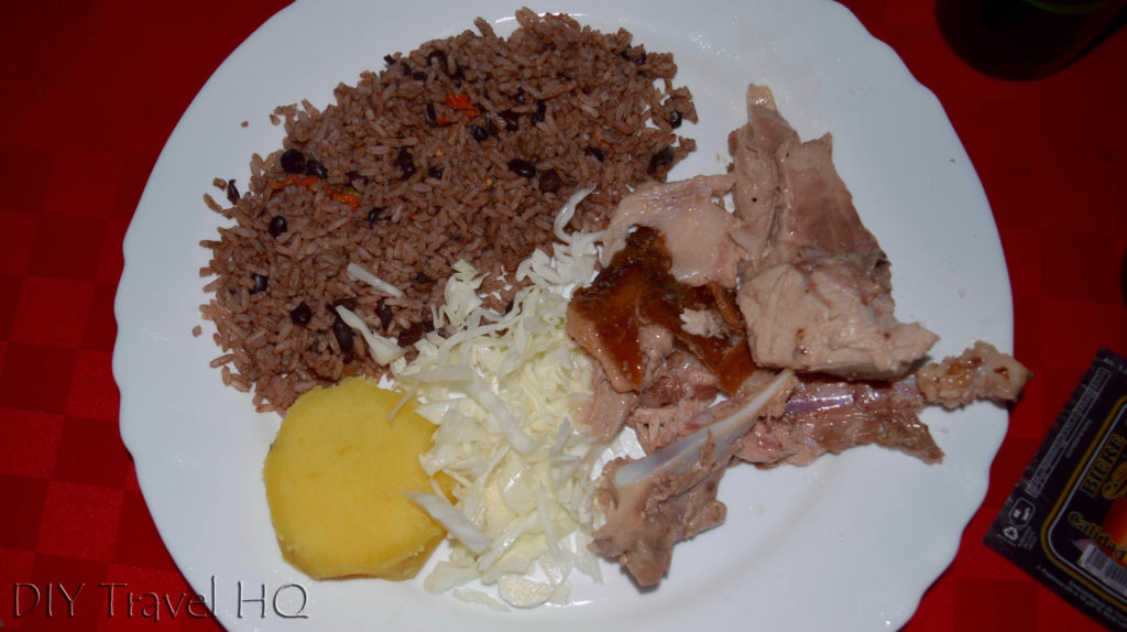 Roast pork meal Las Tunas party