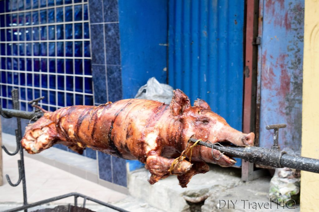 Pig on a spit Las Tunas party