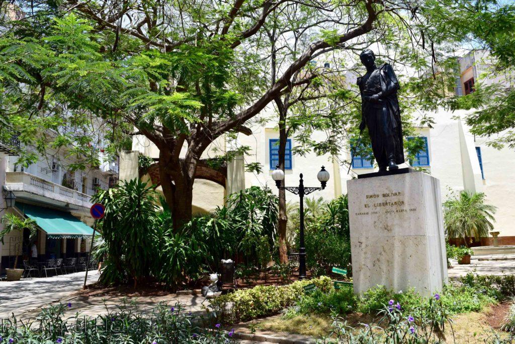 Old Havana Calle Mercaderes Simon Bolivar Statue