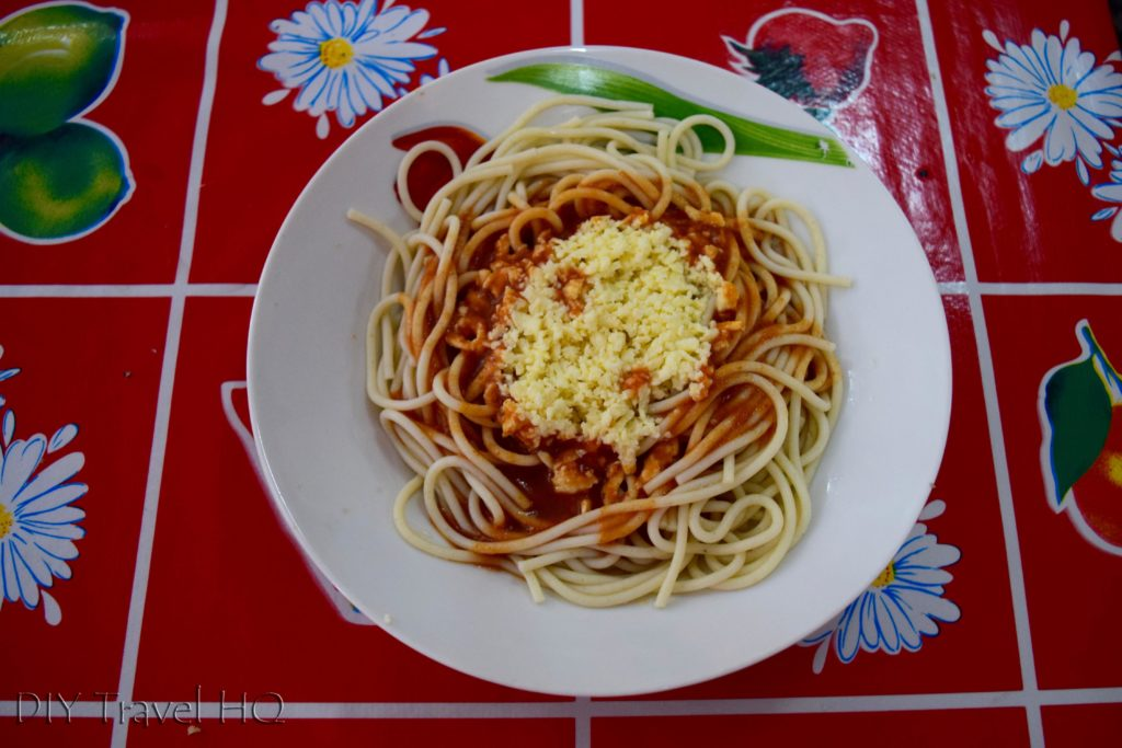 Old Havana Plaza de Armas Mundo Aborigen Cafeteria Spaghetti