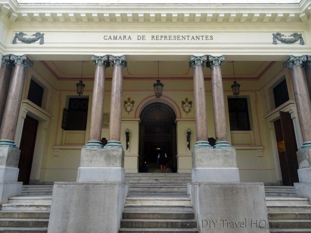 Old Havana Plaza de San Francisco de Asis Camara de Representantes Exterior