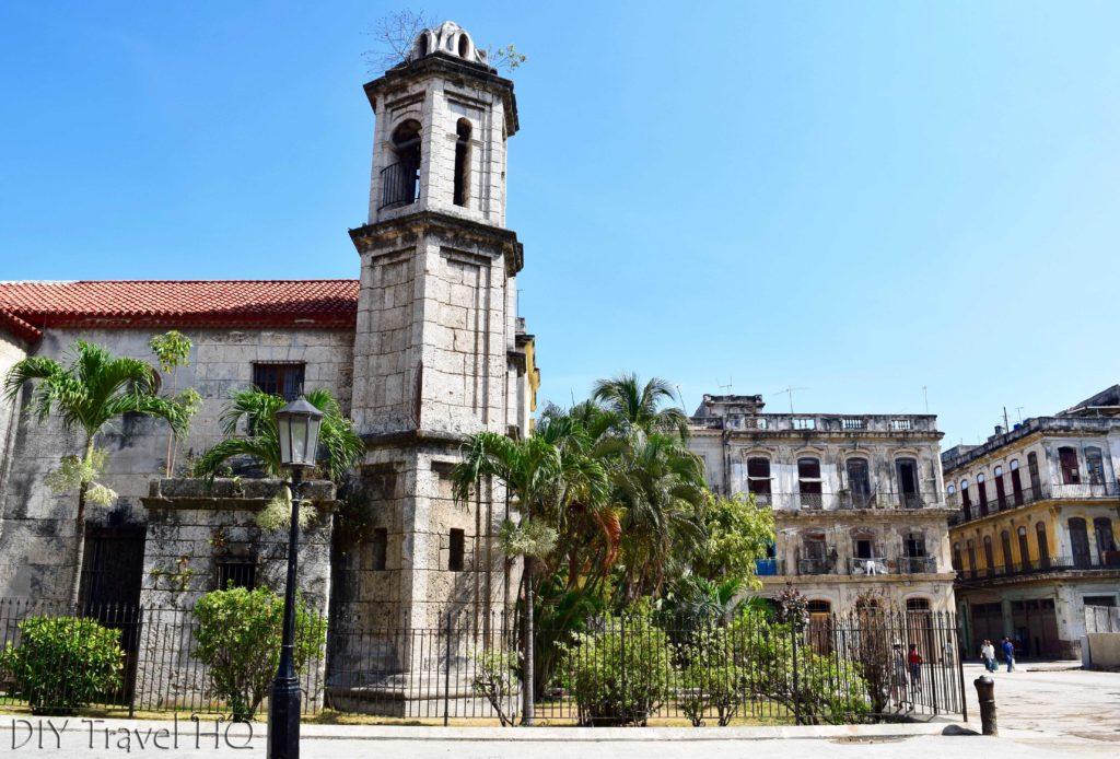 Old Havana Plaza del Cristo and Parroquial del Santo Cristo del Buen Viaje