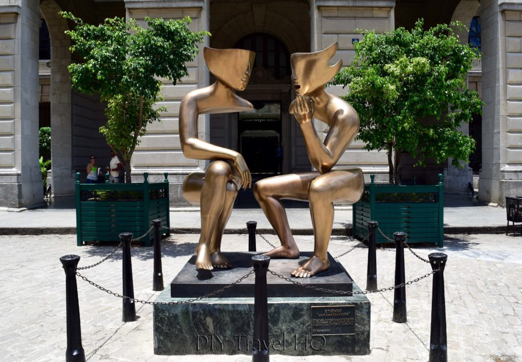Old Havana Plaza San Francisco de Asis Lonja del Comercio Sculpture Conversation