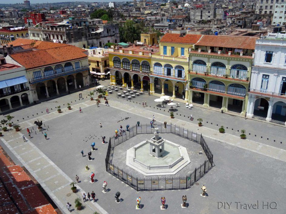 Old Havana Plaza Vieja Birds Eye View