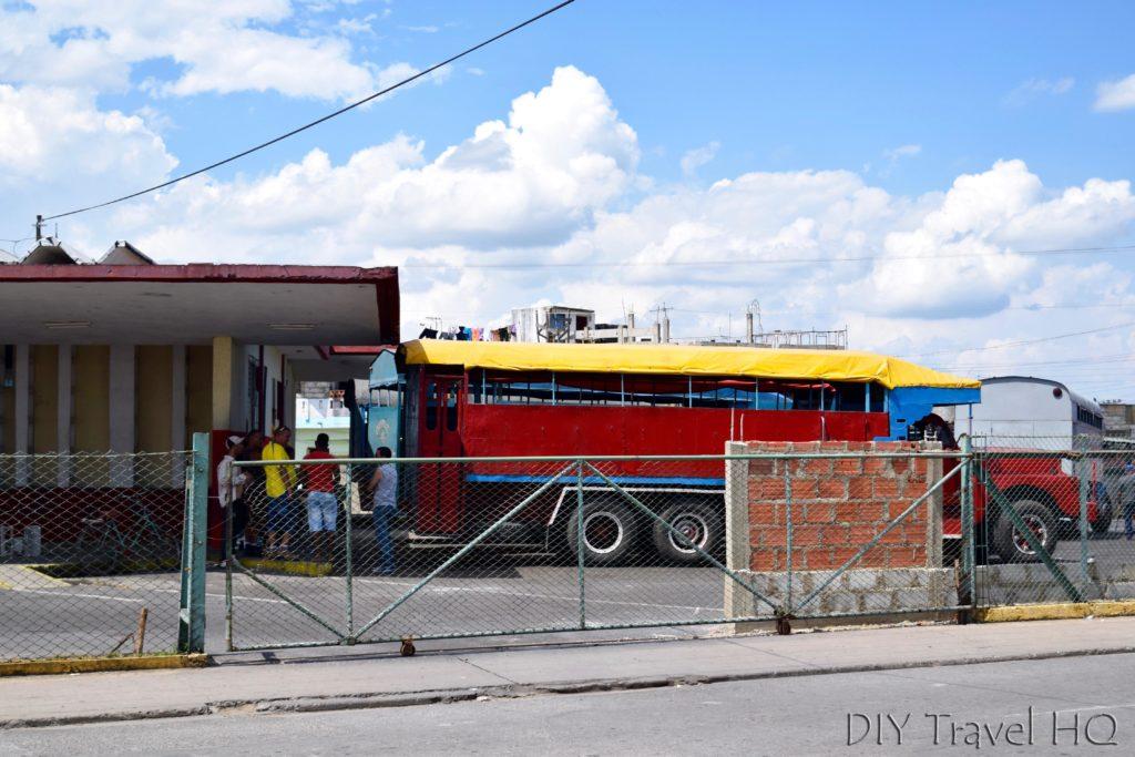 Camion truck at Pinar del Rio bus station