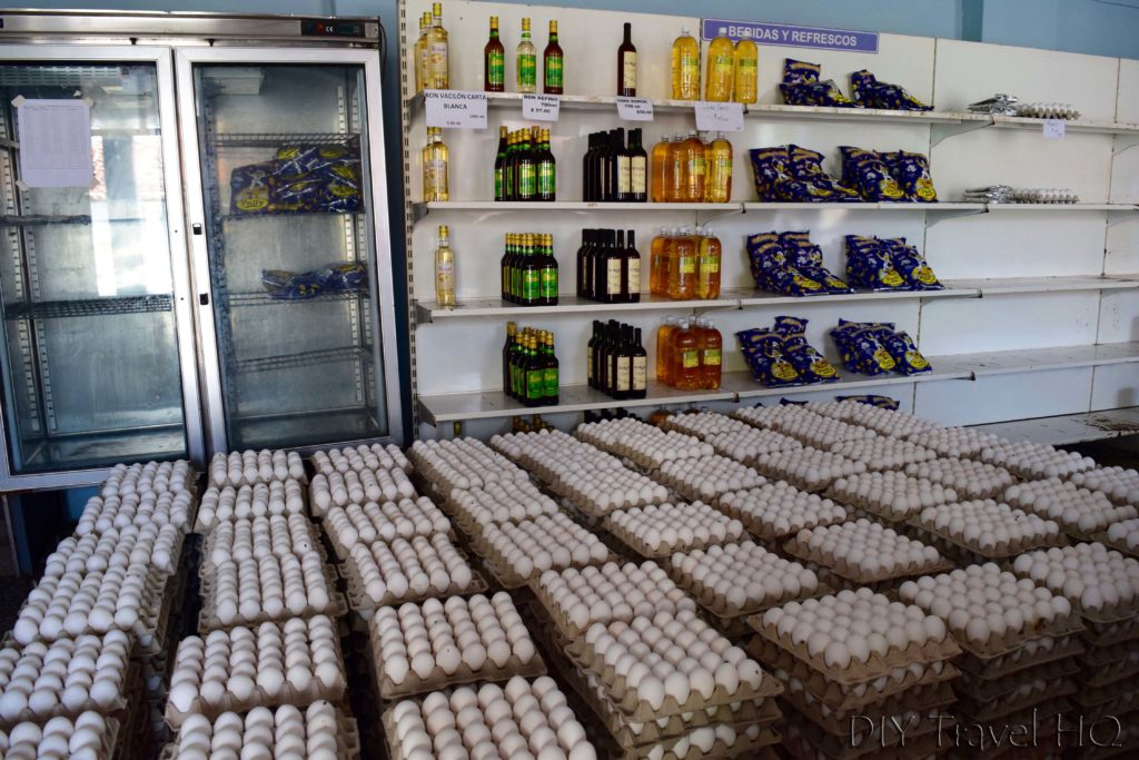 Eggs in government store Cuba
