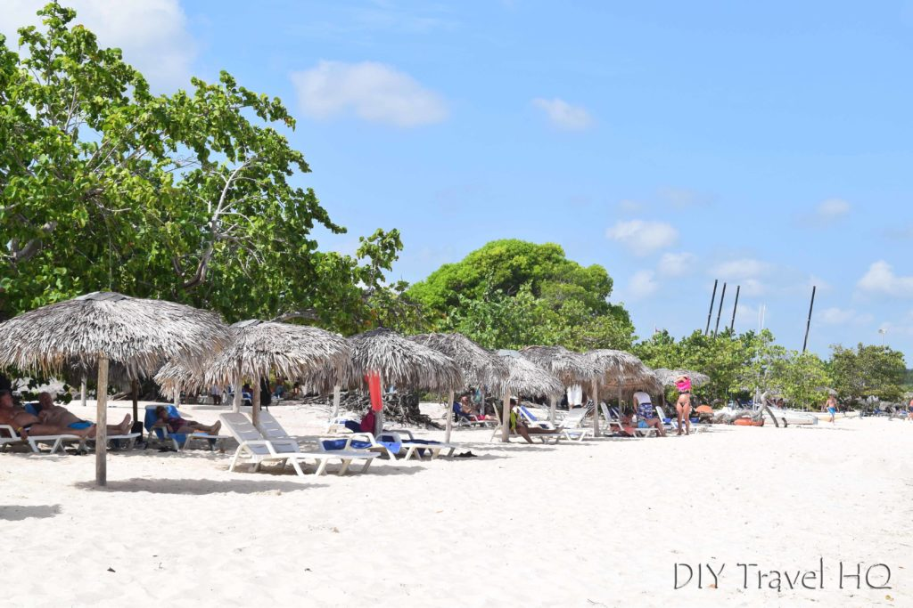 Palapas at Playa Pesquero Cuba
